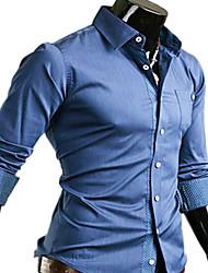 INMUR Blau Ledernaht Polka Langarm-Shirt
