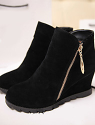 Winble Women's Fashion Causual Comfortable Low Heel Temperament Zipper Martin Boots