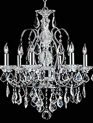 MAX:60W Chandelier ,  Traditional/Classic Chrome Feature for Crystal Metal Bedroom / Dining Room / Study Room/Office / Entry / Hallway