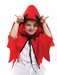 Little Devil Red Cape Kids Christmas Costume(4-6 Years)