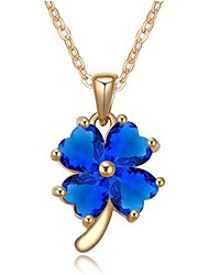 Women's  Zircon AAA Manual Micro - Four Leaf Of Love Pendants Necklaces
