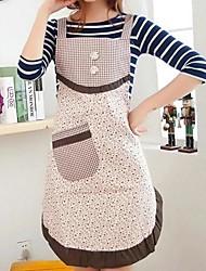 avental mais elegante metálico pequeno floral sarja de algodão