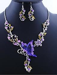 borboletas sabor flores conjuntos nacionais de jóias vintage