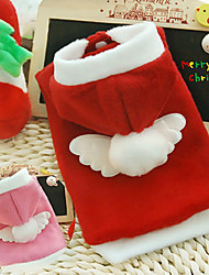 Dog Hoodie Red / Pink Winter Christmas Cosplay / Christmas / New Year's, Dog Clothes / Dog Clothing-Doglemi