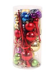 1 caja de bolas de colores festivos&conos de pino decoración de navidad