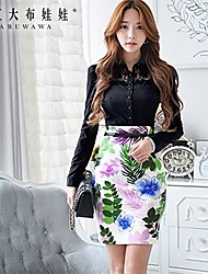 Women's White Skirts , Bodycon/Print/Cute Above Knee