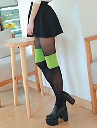 Women's Fashion Double Color Velvet Pantyhose