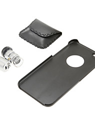 Lente del microscopio 60x con pc nero posteriore Case for iPhone 6