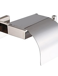 Contemporary Stainless Steel Wall-mounted Toilet Paper Holder