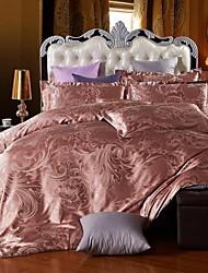 BETTERHOME  Duvet Cover/Duvet Cover Set Comfort Luxury Modern 4 Piece Jacquard Faux Silk Full