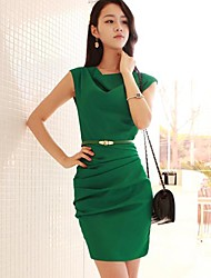 Women's Cowl Neck OL Slim Elegant Office Dress