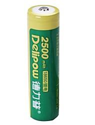 1pcs Delipow 18650 3.7v 2500mah batería de níquel-cadmio