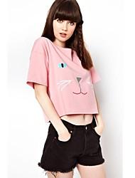 moda impresso t-shirt das mulheres