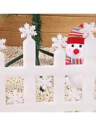 Mini valla diseño paisaje decoración navidad valla (2 piezas)
