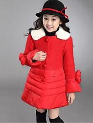 Mädchens einfarbig Bogen Mantel