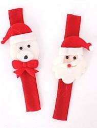 2Pcs Christmas Slap Circle Bracelet