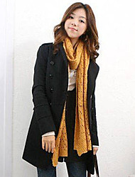Women's Double-Breasted Tweed Overcoat