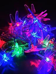jiawen® 4m 20leds rgb Guirlandes de libellule lumière LED chaîne de noël pour la décoration (AC 110-220V)