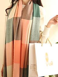 желает корейский большой чек кашемировый шарф