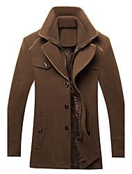 SMR Men's Fashion Casual Lapel Neck  Warm Coat