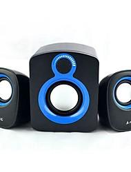mini-mignon noir audio de 3,5 mm de haut-parleur filaire pour pc