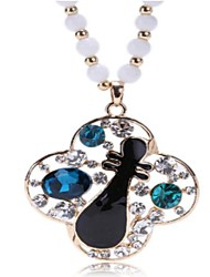 Chinese Pipa Crystal Necklace