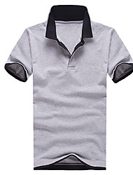 Men's Short Sleeve Polo,Polyester Casual Solid