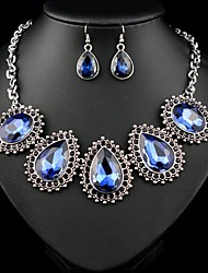 Women's Temperament Generous Water Drop Jewelry Set:Necklace & Earrings(More Colors)