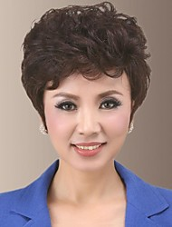 Fluffy And Temperament Fit With Woman Face Side Bangs Human Hair Wigs