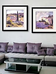 e-HOME enmarcado arte de la lona, casa en el campo de juego de copias enmarcado lienzo de 2