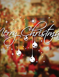 "merry christmas artistico finestra caratteri Adesivo - 11.8 ""w × 19.7"" l"