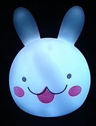 coelho colorido luz cabeça noite