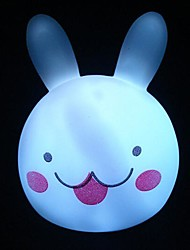 colorido conejo cabeza de luz nocturna
