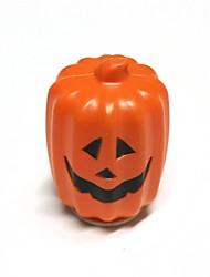 Halloween type long recto-verso a mené la lampe de citrouille Jack-o-lantern - rouge orang + blanc + noir (5 x AAA)