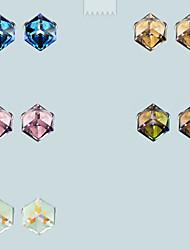 Earring Stud Earrings Jewelry Women Gemstone & Crystal 2pcs Purple / Pink