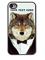 Personalized Phone Case - Wolf Design Metal Case for iPhone 4/4S