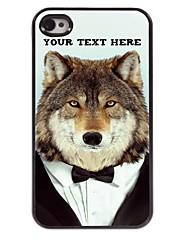 personnalisé cas de téléphone - loup cas design en métal pour iPhone 4 / 4S
