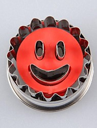 Smiley Shaped Spring Type Embossing Cake / Cookie Mould(More Colors)
