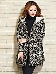 Iced ™ женская мода народном стиле утолщаются толстовки вниз пальто