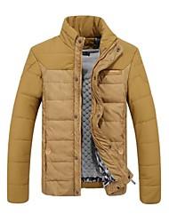 CHUN ZHENG Men's Fashion Stand Collar Jacket