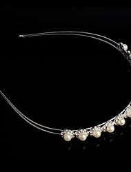 plaqué perle de cristal de mode en argent de mariée dame couronne de chef de bande