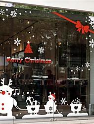Natale decalcomanie decorazione della parete adesivi murali, adesivi murali pupazzo di neve di tiro auto in pvc