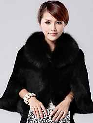 GZ&C Women's Solid Color Long Sleeve Fur Coat