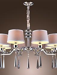 lustre vintage, 8 luz, tecido clássico pintura de metais