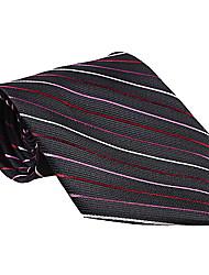 corbata a rayas negro
