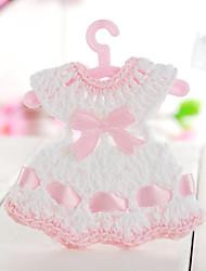 décoration de mariage faveurs conception robe de décoration pour bébé (ensemble de 6)