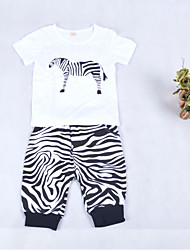 Girl's Clothing Set,Cotton Summer Animal Print
