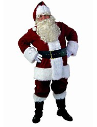 Deluxe Pleuche Adult Men's Santa Suit(for Height:170CM-182CM)
