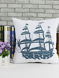 veleiro padrão de algodão / capa de linho travesseiro