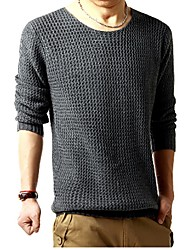 Reach Men's Solid Color Long Sleeve T Shirt